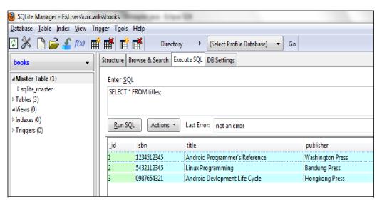 Tuturial DatabaseAps SQLite